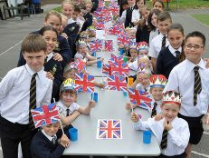 Poole academy celebrates Queen's birthday