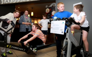 Pupils and staff from Nigel Bowes Academy took part in a fundraising triathlon at The Village Hotel in Bournemouth.