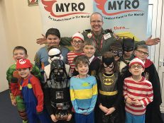 Author swoops in to Longspee on World Book Day